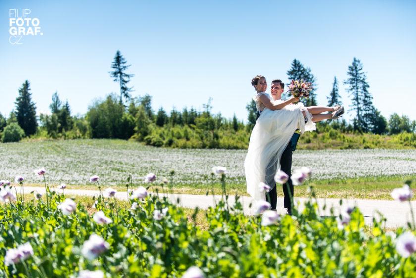 Svatební fotografie Aničky a Vojty