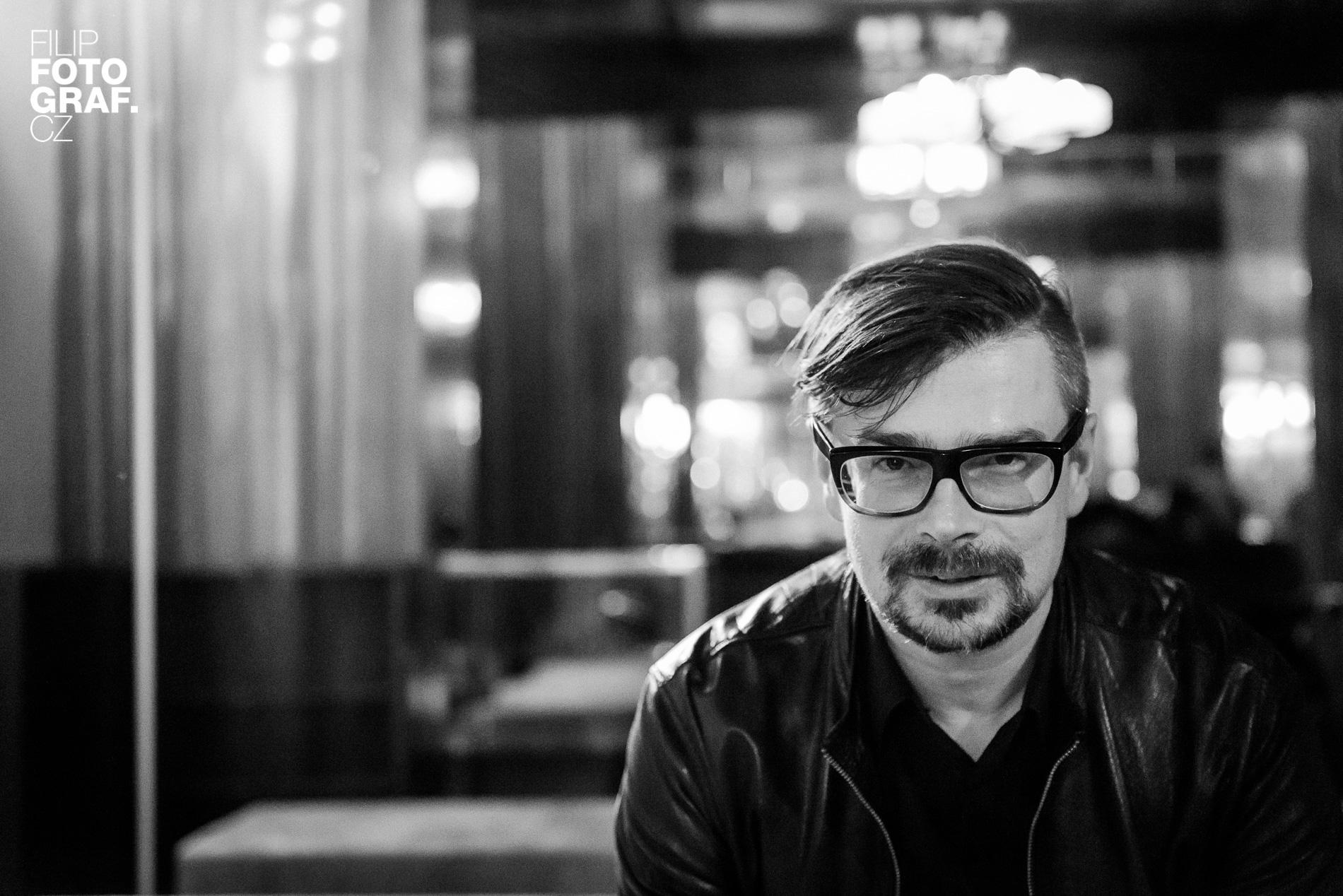Portrétní fotografie Jaroslava Rudiše
